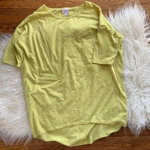 LulaRoe Irma Yellow Women's Shirt Size Small